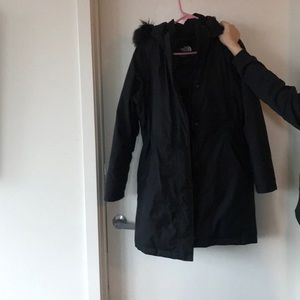 North face black winter coat